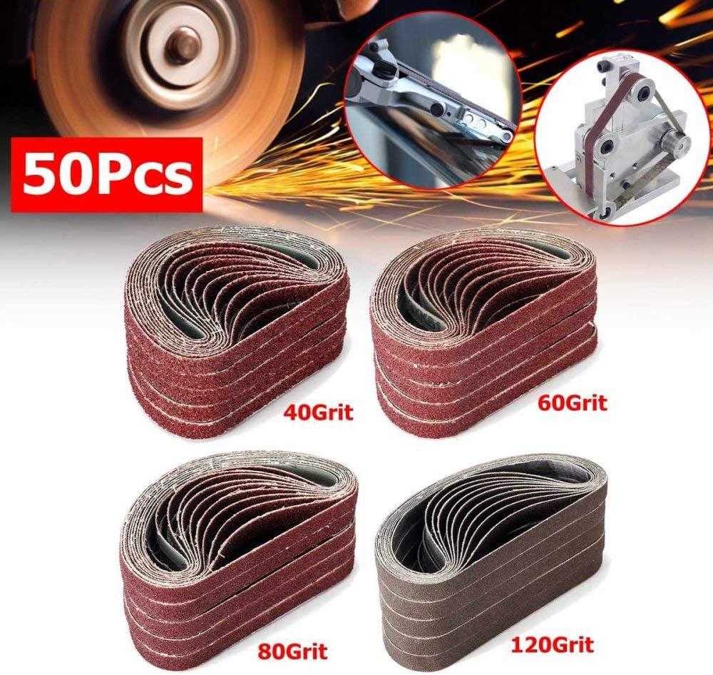120# pulido de metal Bandas de aluminio Pulidora Lijadora de /óxido 10 x 330 mm 50 PCS 40//60//100//120 Correas de lijado de grano