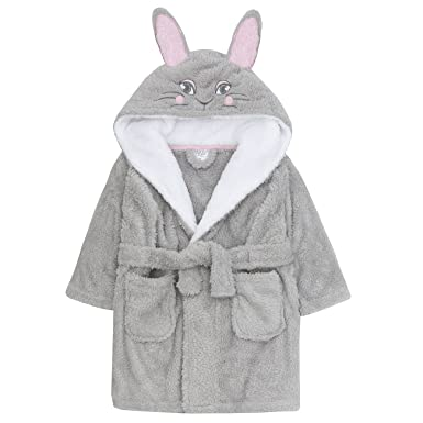 Girls Boys Novelty Puppy Dog Hooded Dressing Gown With Ears Sizes ...