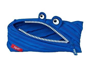 Zipit Trousse motif monstre avec fermeture éclair M bleu marine ...