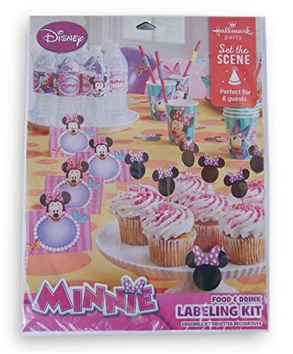 Minnie Mouse Food Drink Labeling Kit By Hallmark