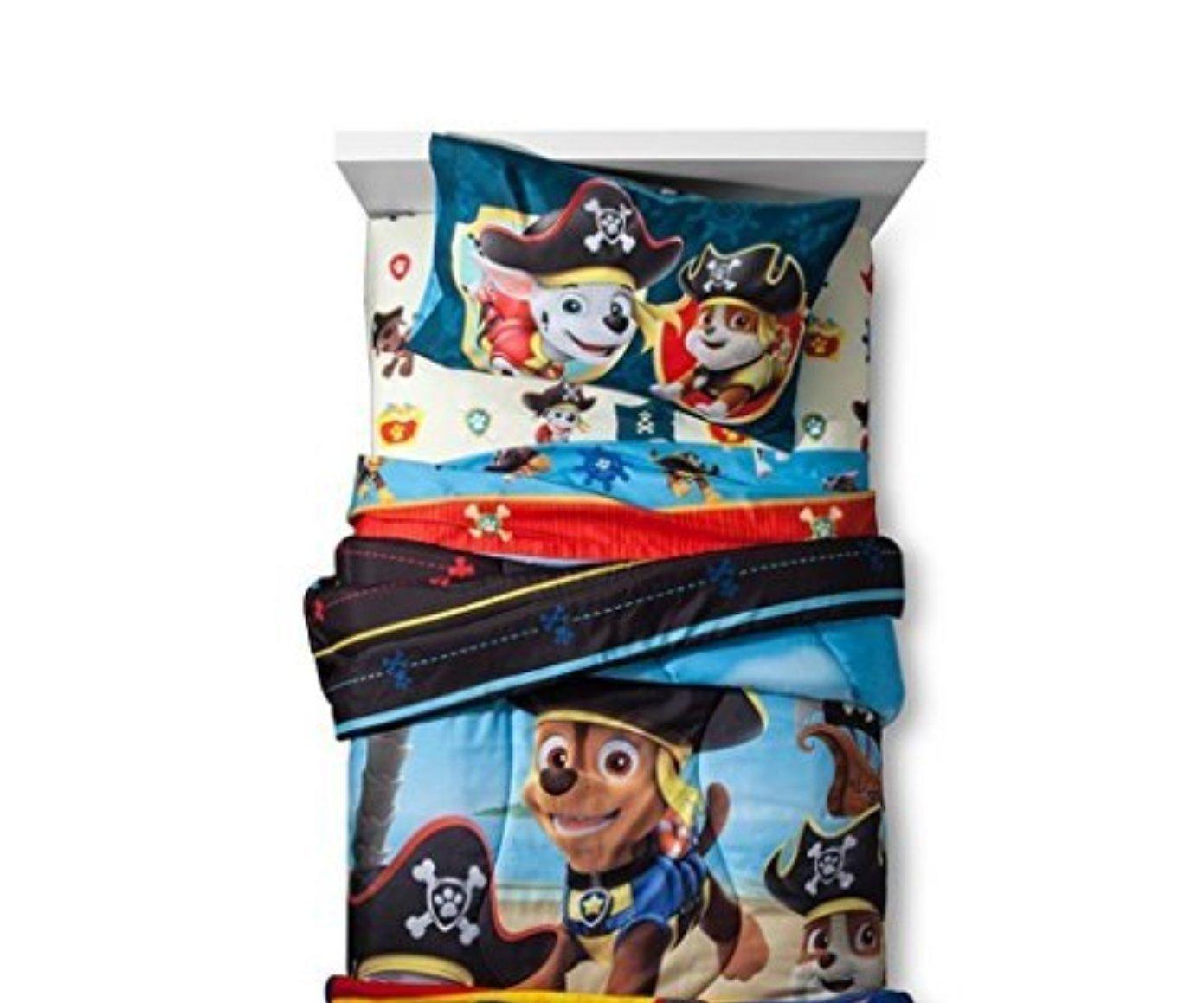 Paw Patrol Pirate子犬Full Comforter Set with Throw B076N5KJYJ