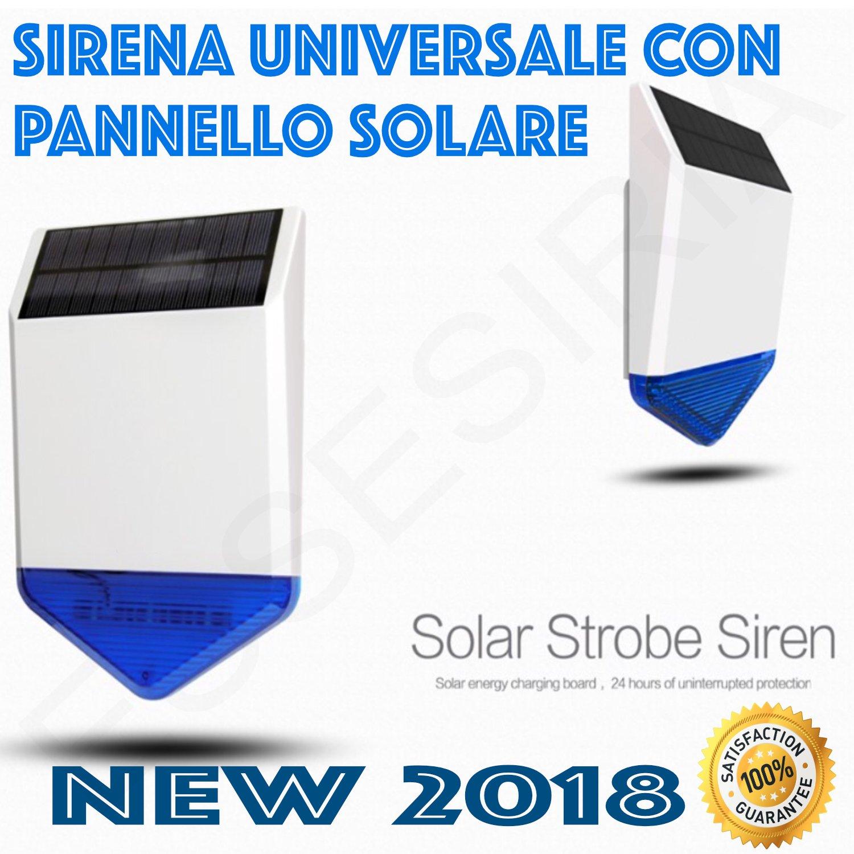 Alarma Sirena universal con panel fotovoltaico solar ...