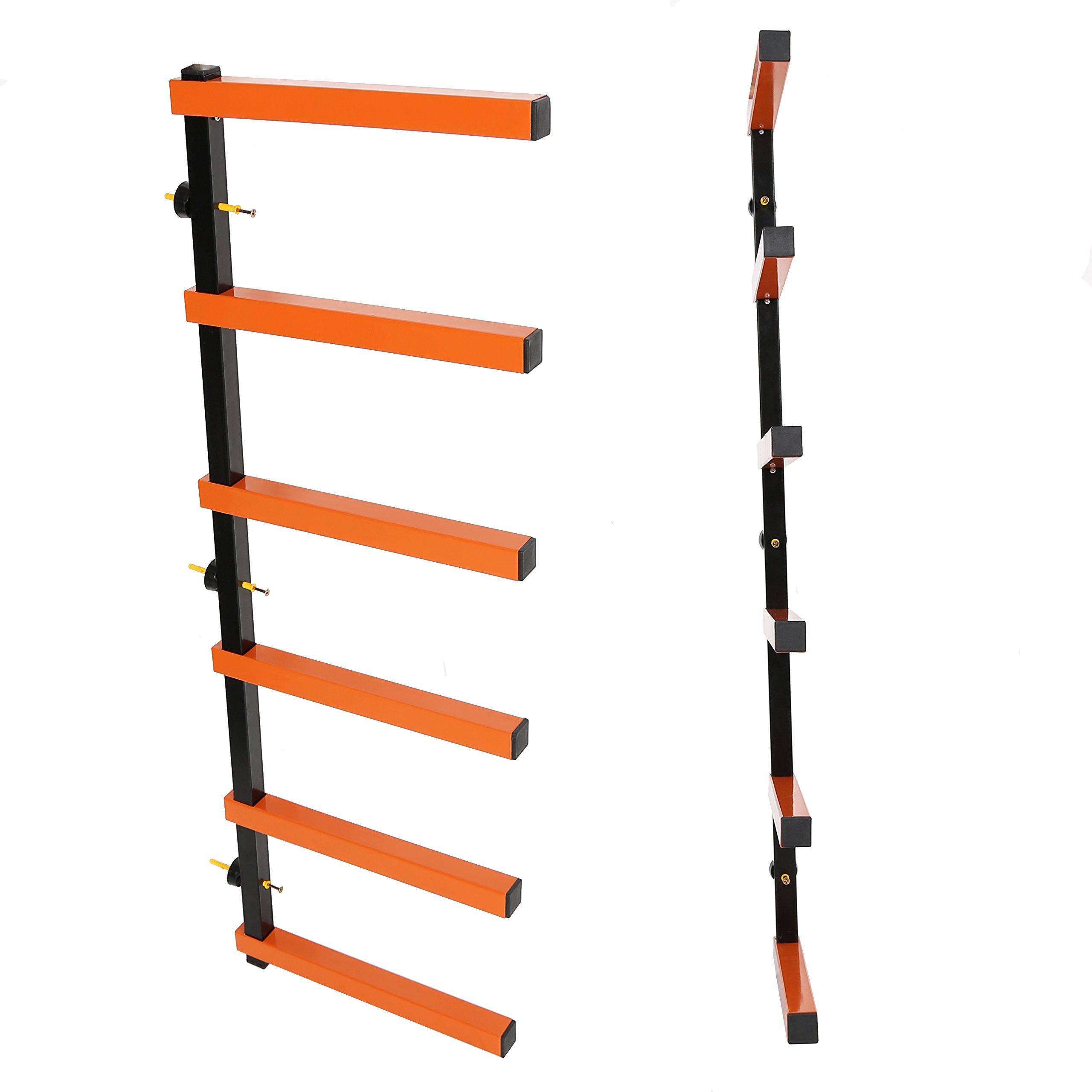 7BLACKSMITHS Six-Level 600 lb Capacity Lumber Storage Rack Wall-Mounted both Indoor and Outdoor Use Wood Organizer Rack by 7BLACKSMITHS (Image #5)