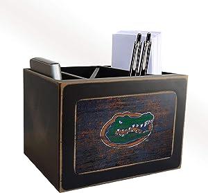 NCAA Florida Gators Distressed Team Logo Desktop Organizer with Color
