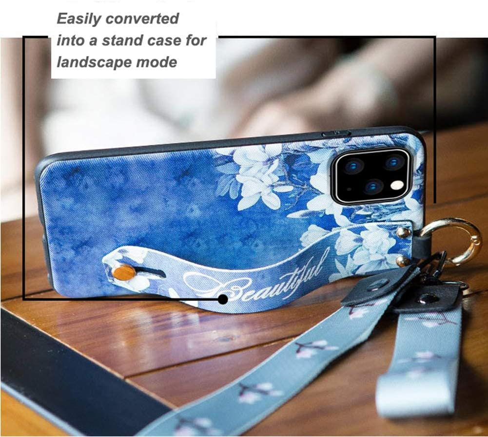 iPhone11 Girls//Men//Womens Wrist Strap Band Protector Protective Mobile Phone Cover Full-Body Bumper iPhone 11 Cases iPhone 11 Case
