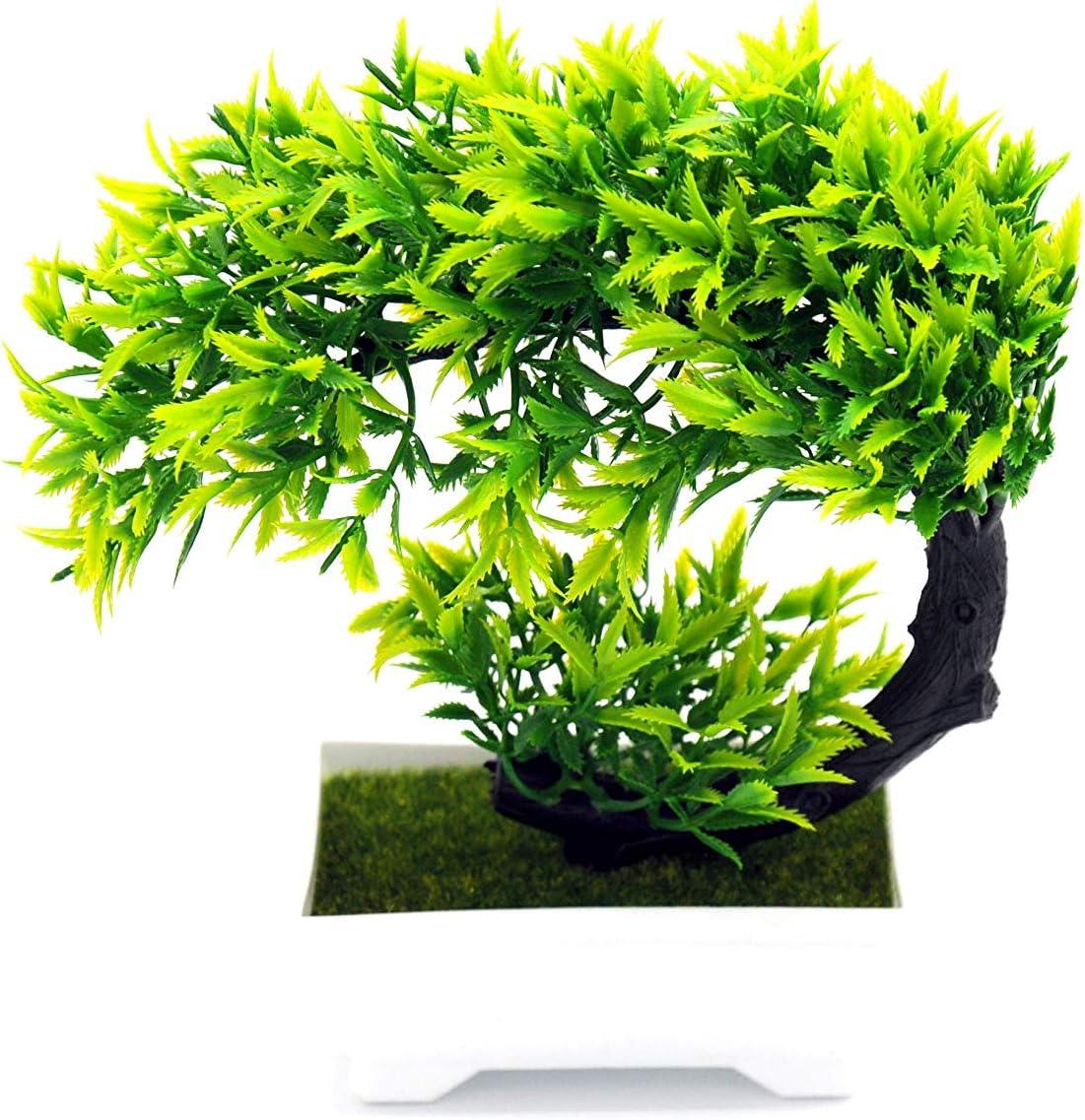 Artificial Plant Decoration Potted Artificial House Plants Amiable Japanese Pine Tree Bonsai Plant Desktop Display for Decoration Make Life Better Artificial Bonsai Tree Zen Garden D/écor