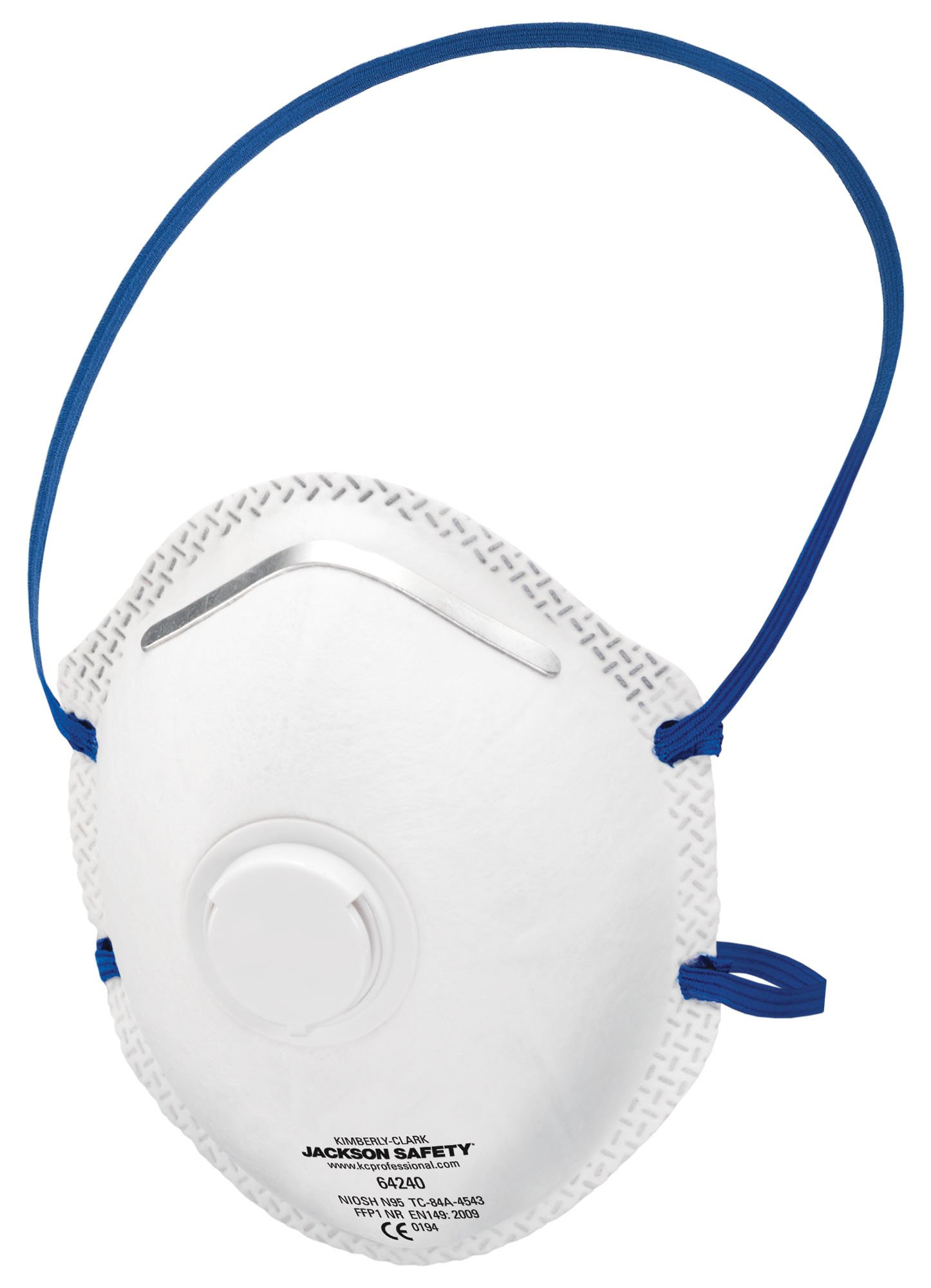 Jackson Safety R10 N95 Particulate Respirator with Single Valve, Blue (Case of 80) by Jackson Safety (Image #1)