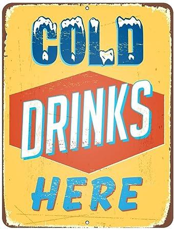 Bebidas frías aquí - señal de Prohibido aparcar ...