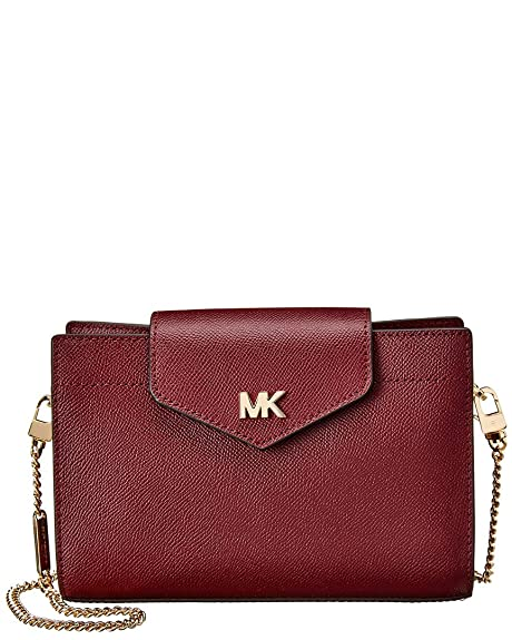 377c846d6748 Michael Kors Medium Convertible Oxblood Textured Leather Cross-Body Bag  Burgundy Leather
