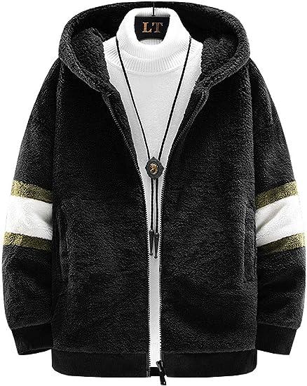 D.IIZOO 裏ボアジャッケト フリースジャケット メンズ ショートコート 裏起毛ジャンパー 厚手 ボアアウター もこもこ ブルゾン 秋冬服 カジュアル ふわふわ 暖かい 保温防寒 おしゃれ