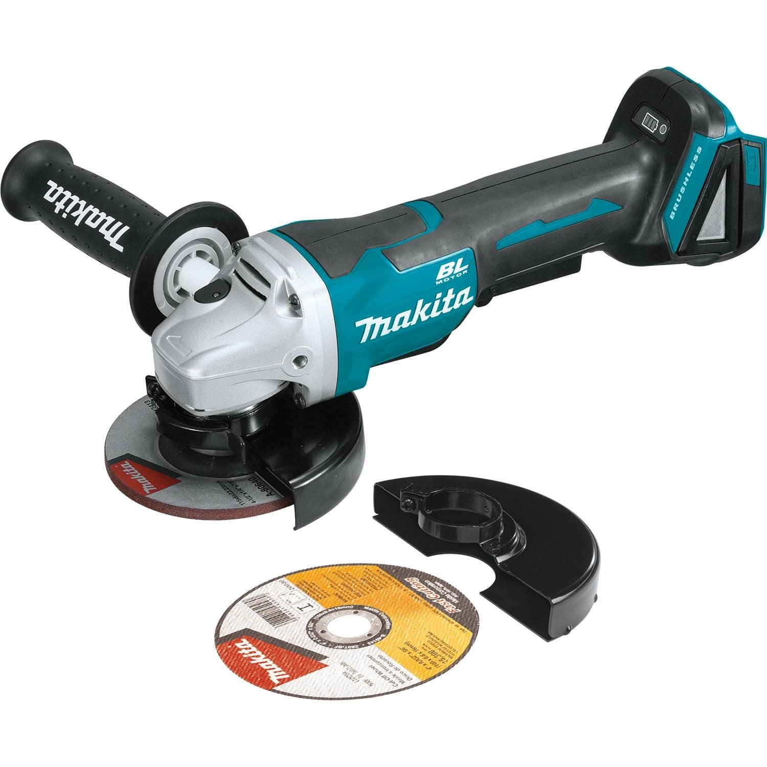 Makita XAG06Z 18V LXT Lithium-Ion Brushless Cordless 4-1 2 Paddle Switch Cut-Off Angle Grinder Kit