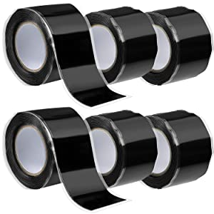 6 Rolls Self Fusing Silicone Tape, Rubber Pipe Sealant Tape Sealing for Garden Plumbing and Hose Emergency Repair Waterproof