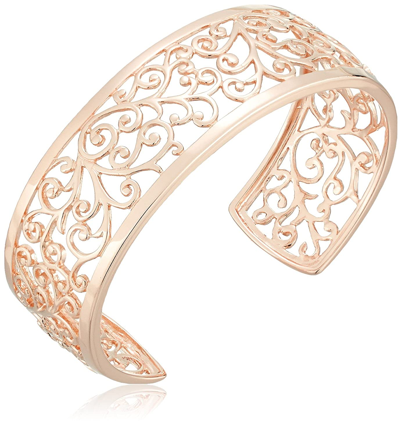 Sterling Silver Filigree Open Cuff Bracelet, 6.5 6.5 Amazon Collection S15356A0WQ-RNBCF00