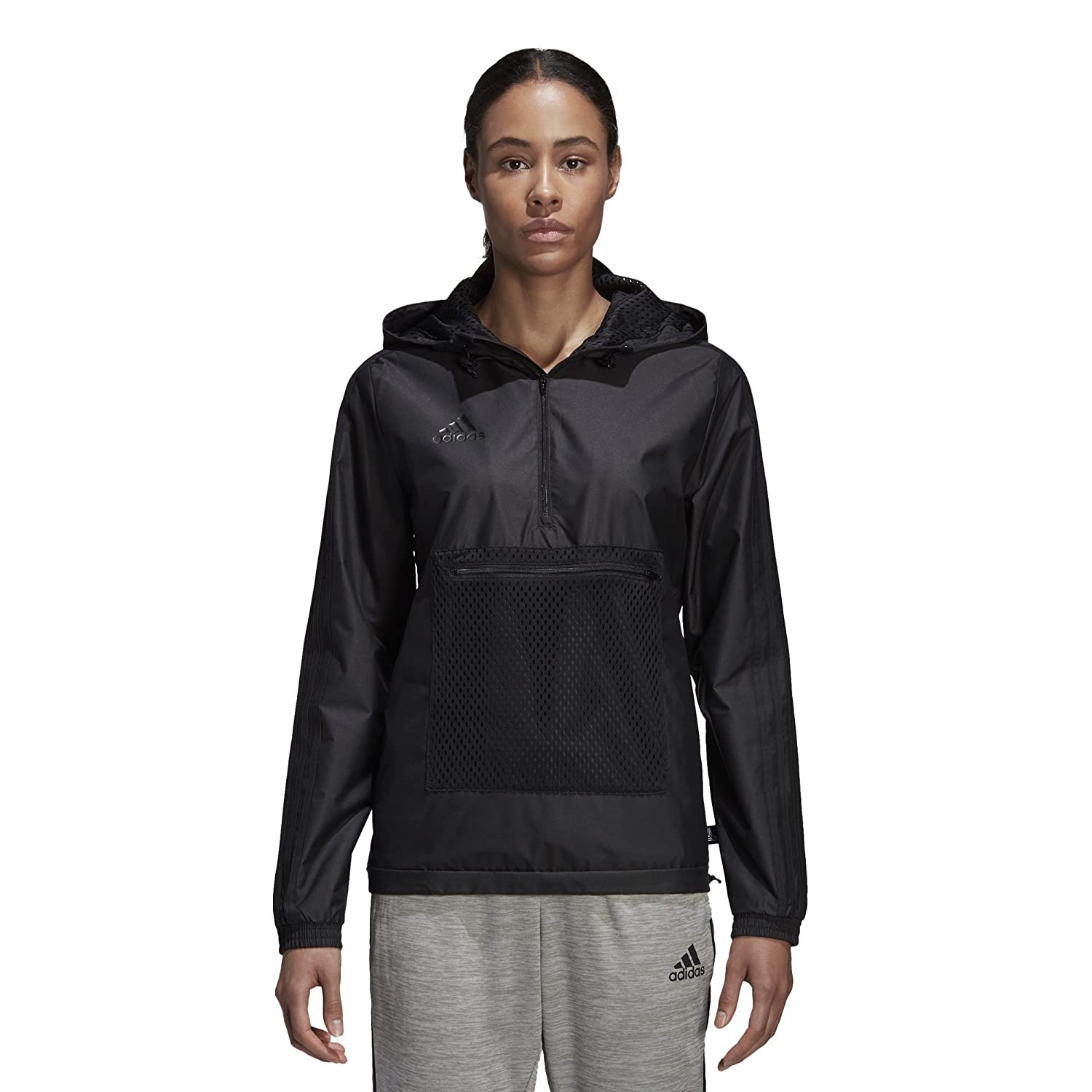 adidas Women's Tango Windbreaker, Black, M/M CZ7262