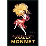 """Framed Art Print, 'Cognac Monnet (ca. 1927)' by Leonetto Cappiello: Outer Size 25 x 37"""""""