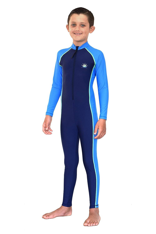 175bf46ea2 Amazon.com: Boys Full Body Stinger Swimsuit Sun Protection Swimwear Sunblock  Navy Blue: Clothing