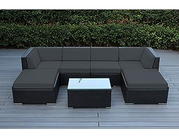 Amazon Com Ohana Piece Patio Wicker Sectional Sofa Set With