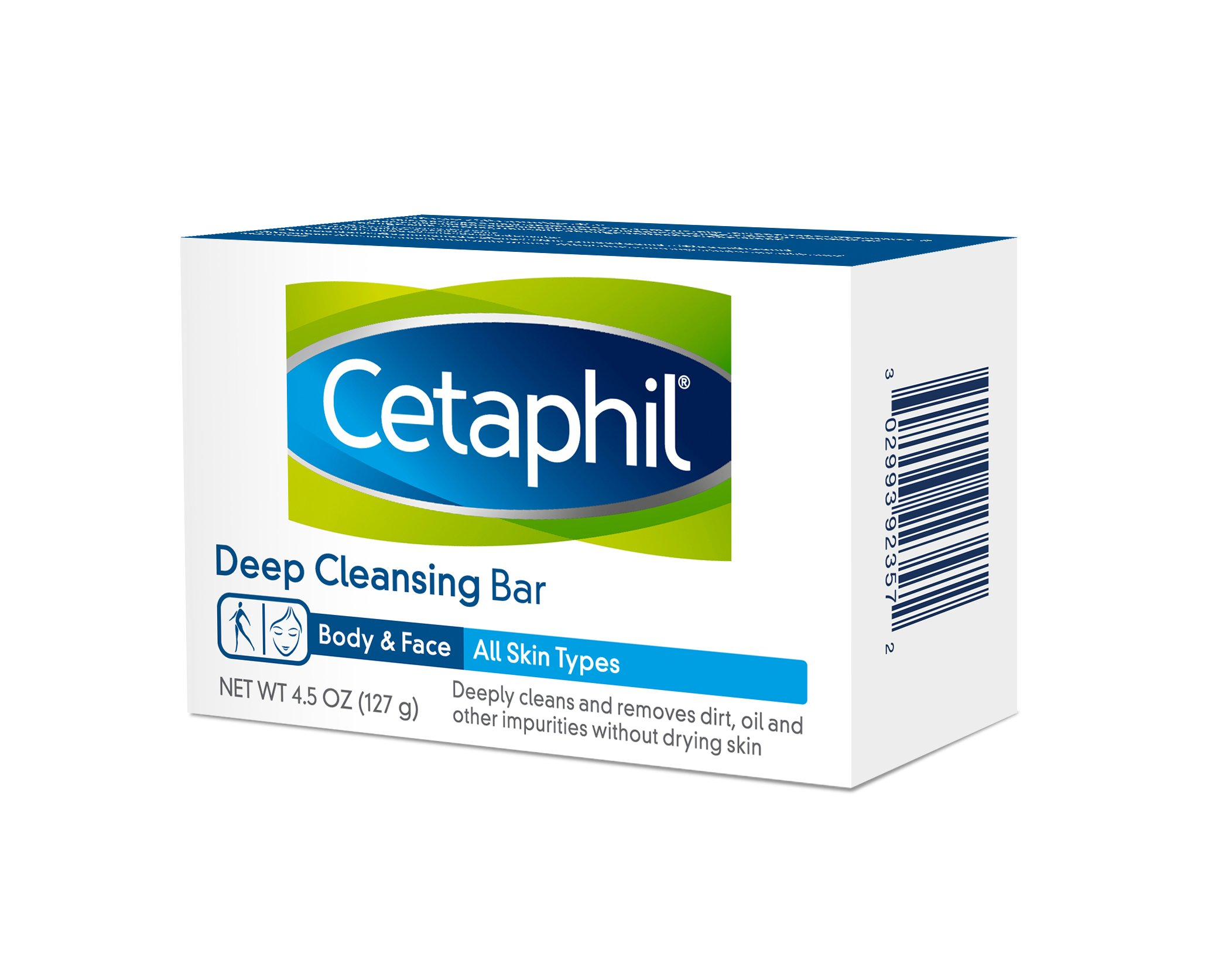 Cetaphil Deep Cleansing Face & Body Bar for All Skin Types , 6 Count