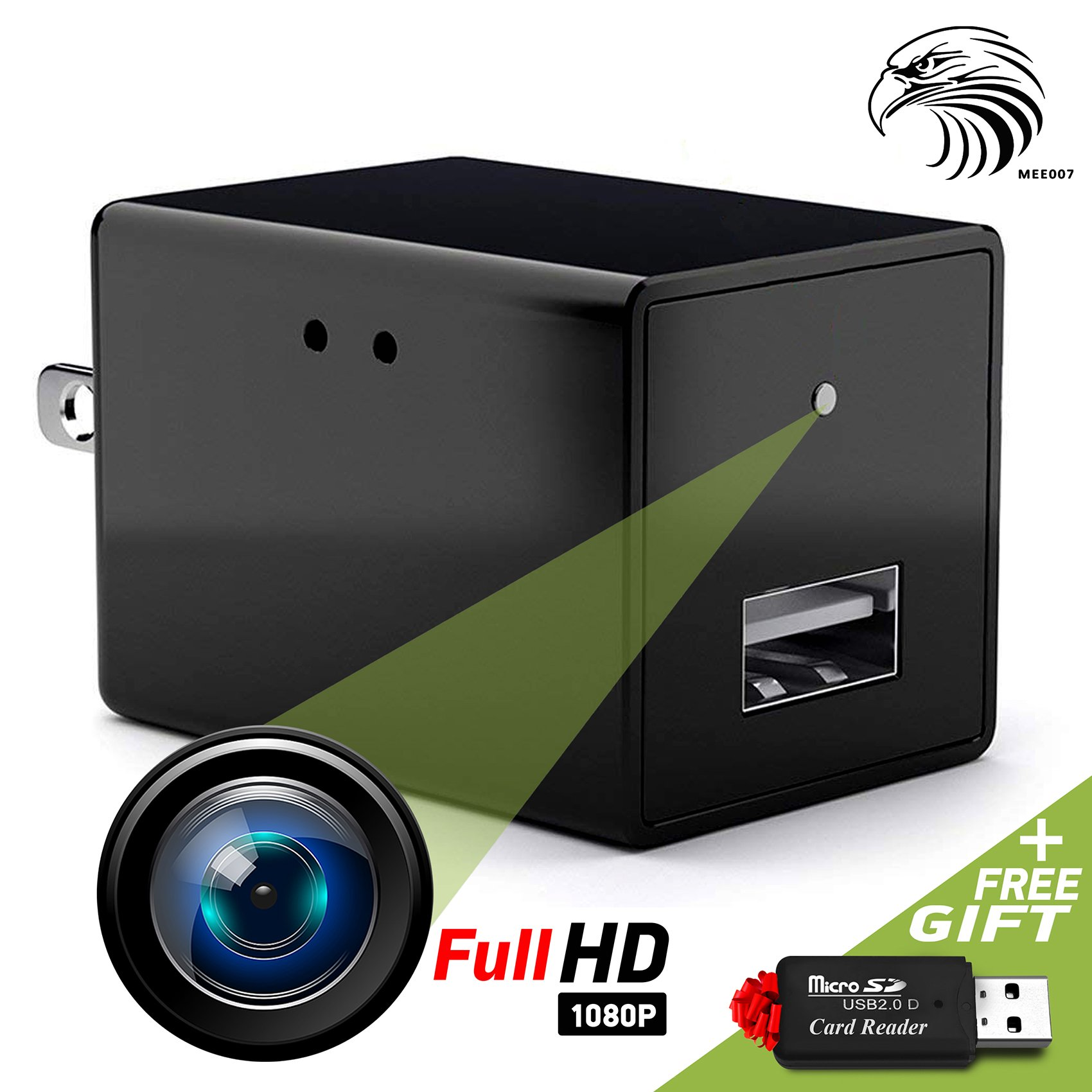 Spy Camera - Hidden Camera - Mini Spy Camera 1080p - USB Charger Camera - Hidden Spy Camera Charger - Hidden Nanny Cam - Hidden Spy Cam - Hidden Cam - Surveillance Camera FULL HD - No Wi-Fi Needed