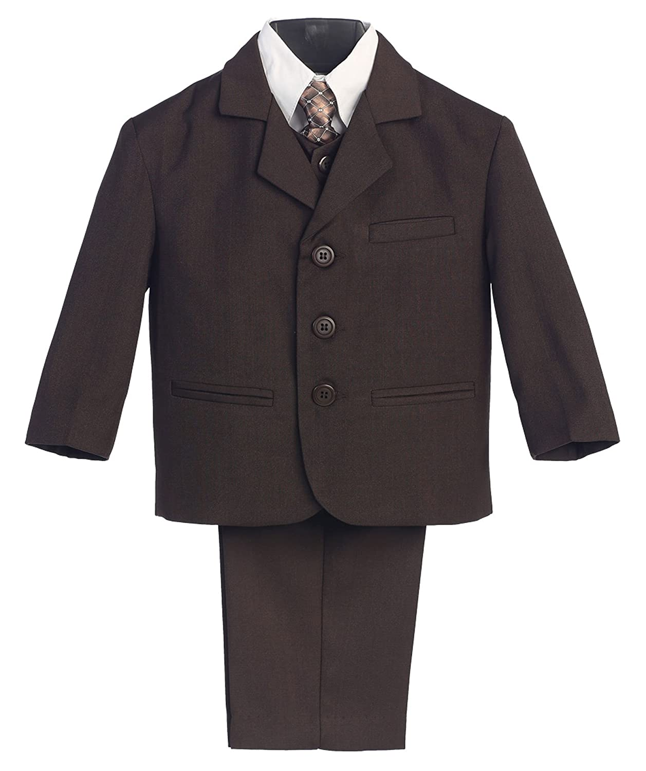 a883a46ee4cc6 Amazon.com: Avery Hill Infant Toddler Husky Boy's Dress Suit with Shirt Vest  & Tie (5 Piece): Clothing