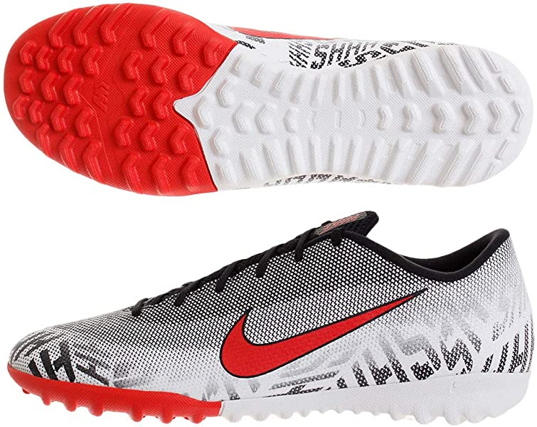 04ed0a52426 Nike Men s Mercurial Vapor XII Academy Neymar TF-White Black Challenge Red (