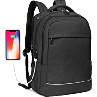 Bropang 17.3 inch Travel Business Laptop Backpack (Black)