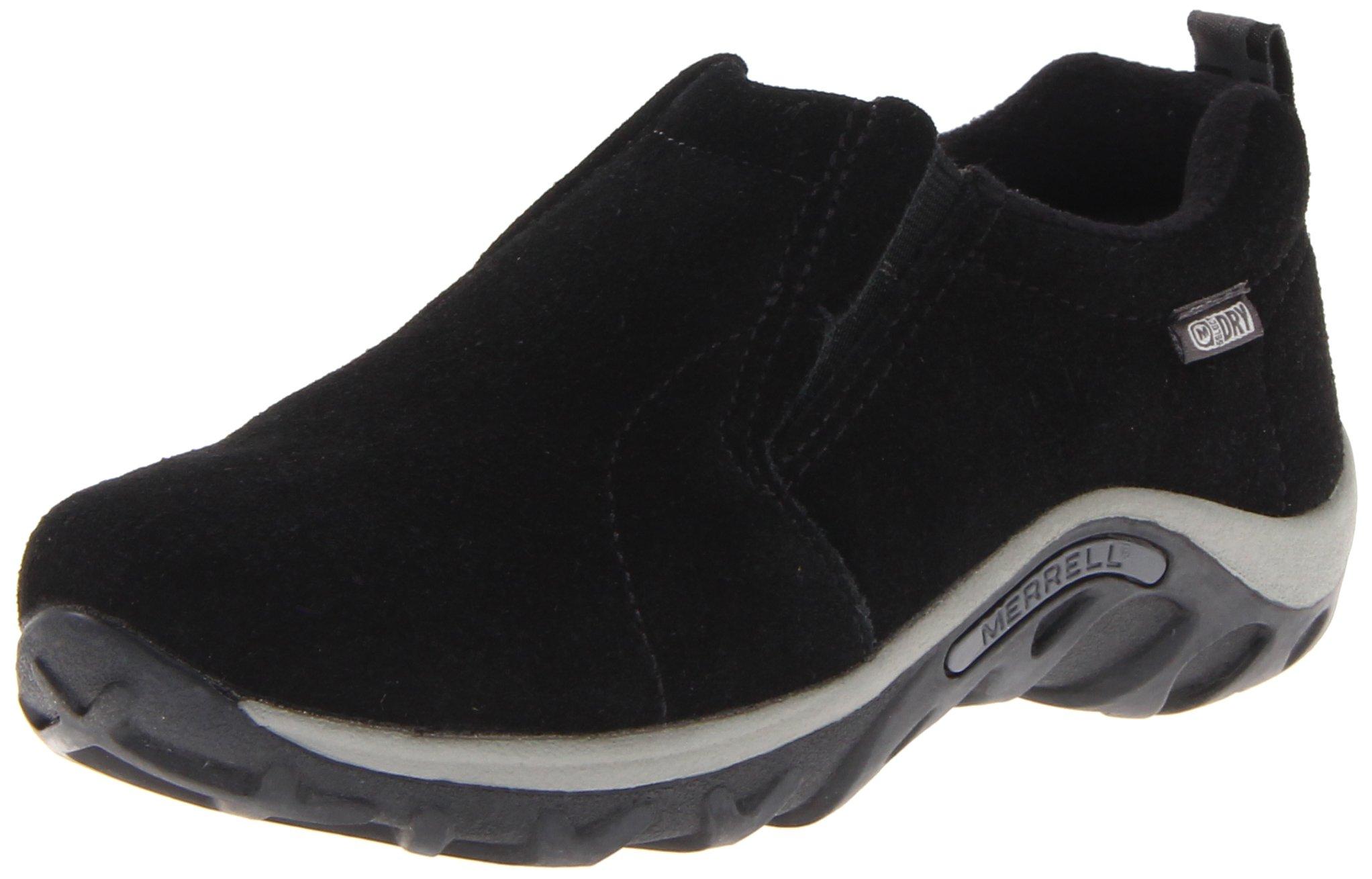 Merrell Jungle Moc Frosty Waterproof Slip-On Shoe (Toddler/Little Kid/Big Kid),Black,10 M US Toddler