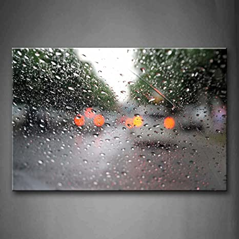ABSTRACT WATER DROPS MODERN ART CANVAS PRINT POSTER READY TO HANG