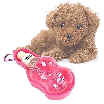 Milong Bebedero para Perros Gatos Botella de Agua Portátil para Mascota  Dispensador de Agua de Viaje Prevención de Fugas de Agua para Caminar al Aire Libre ...