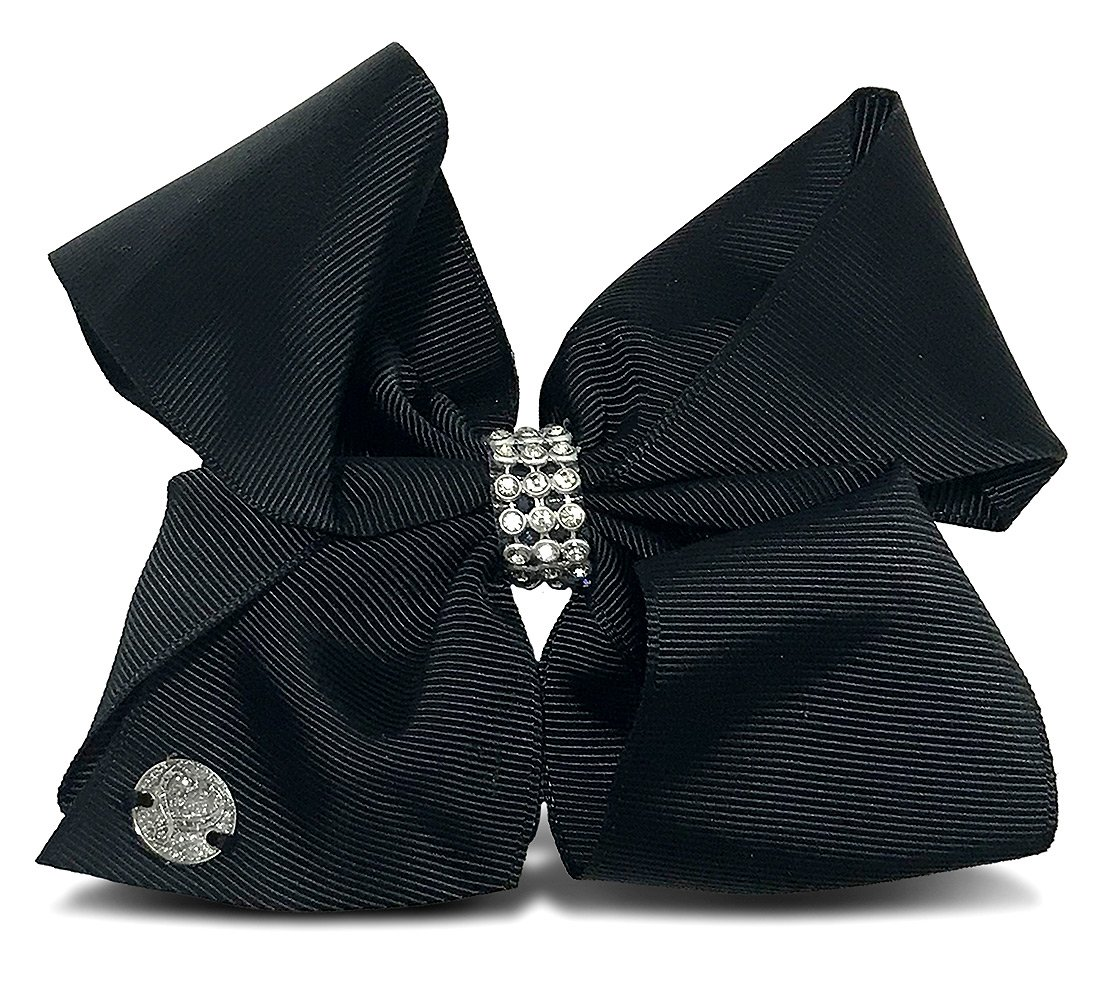 JoJo Siwa Black Rhinestone Bow 6.5 x 5-Small JJ002B