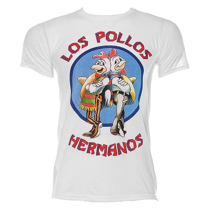 Los Pollos Hermanos Mens Breaking Bad T-Shirt: Amazon.es: Ropa y accesorios