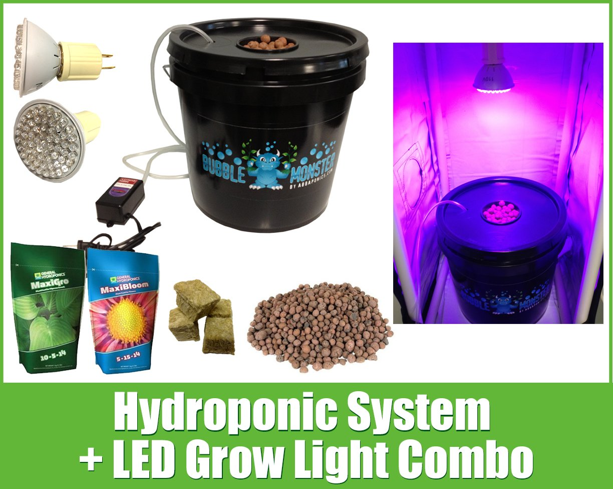 Hydroponic System LED Combo - Complete Grow System - DWC Hydroponic Kit
