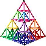 Elongdi Magnetic Building Blocks, [ 132 Pieces ] Lengthen Building Sticks Set, Magnet Stem Toys Set Non-Toxic Building…
