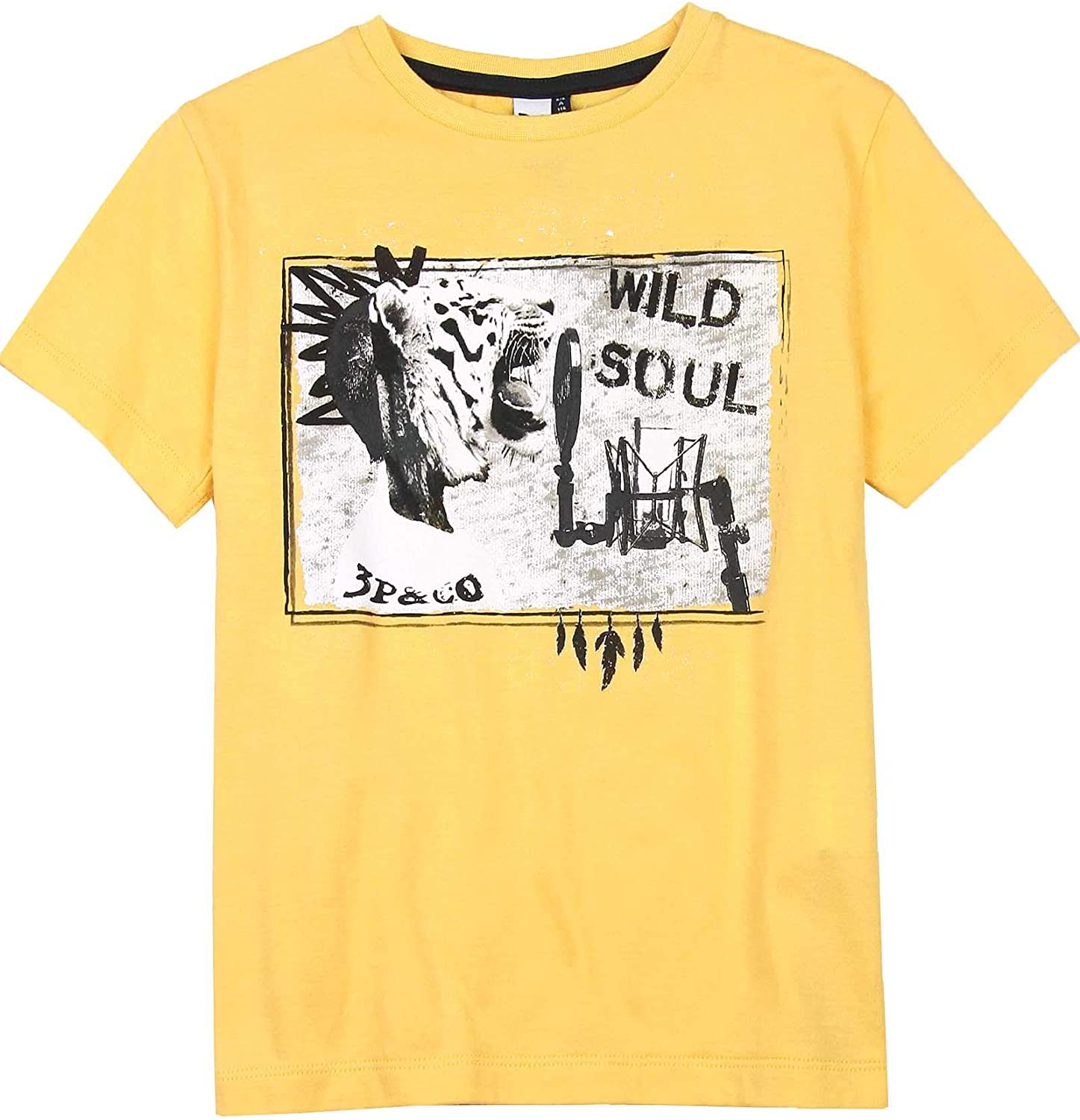 3POMMES Boys T-Shirt with Print Wild Soul Sizes 4-12