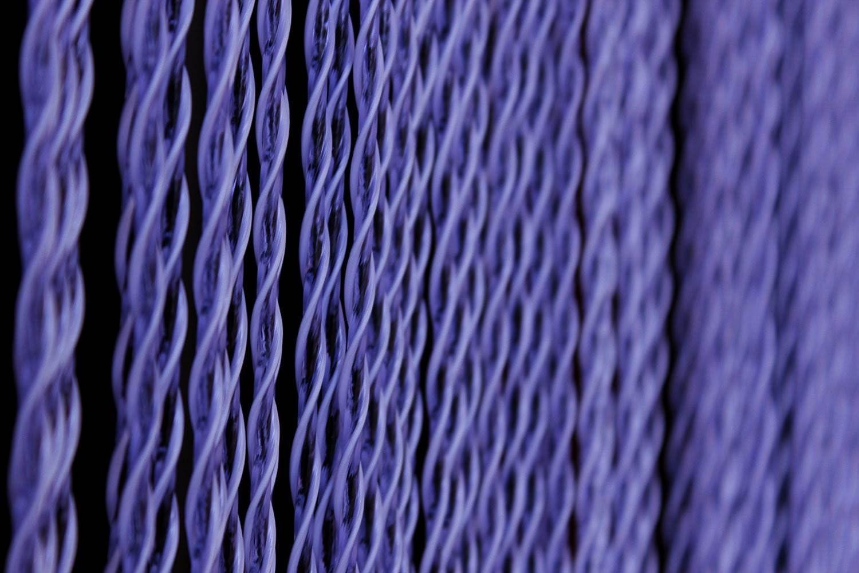 Barbadella Home Vorhang /Ösen Modern 3x49x30 cm dunkelviolett