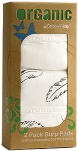 Bubba Blue Feathers Organic Cotton 2 Pack Burp Pads Baby Newborn Soft Gift