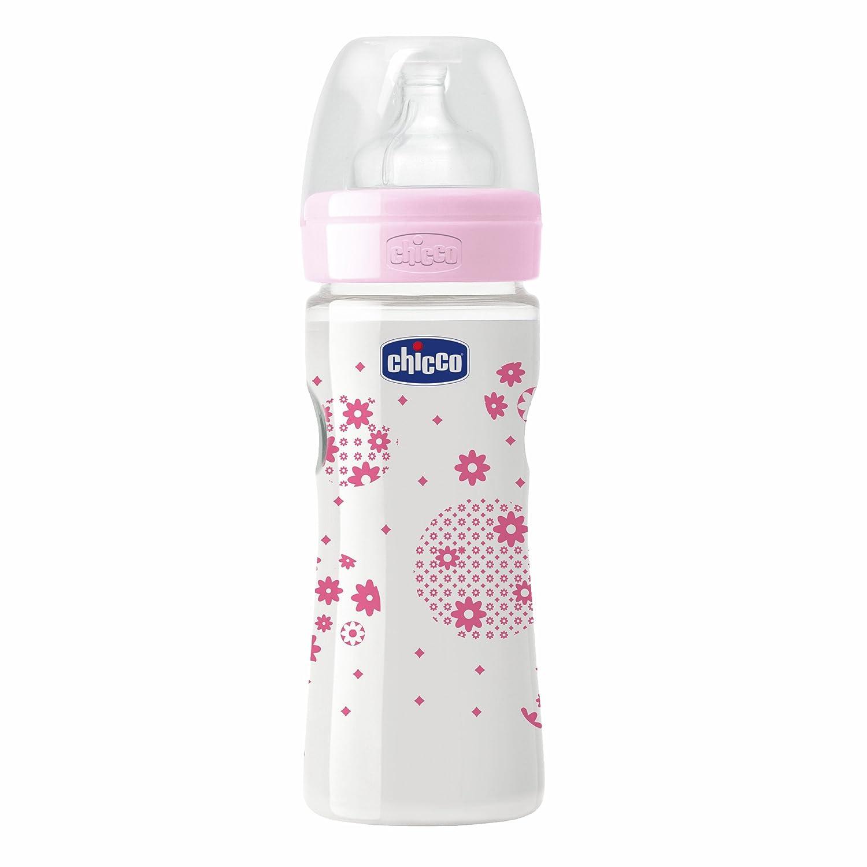Amazon.com: Chicco 250 ml bienestar PP Botella (Rosa): Beauty