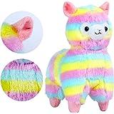 KOSBON Rainbow-Peluche, Alpaca, 100% animali Toys-Peluche, Best Birthday e idea regalo per bambini ed amici