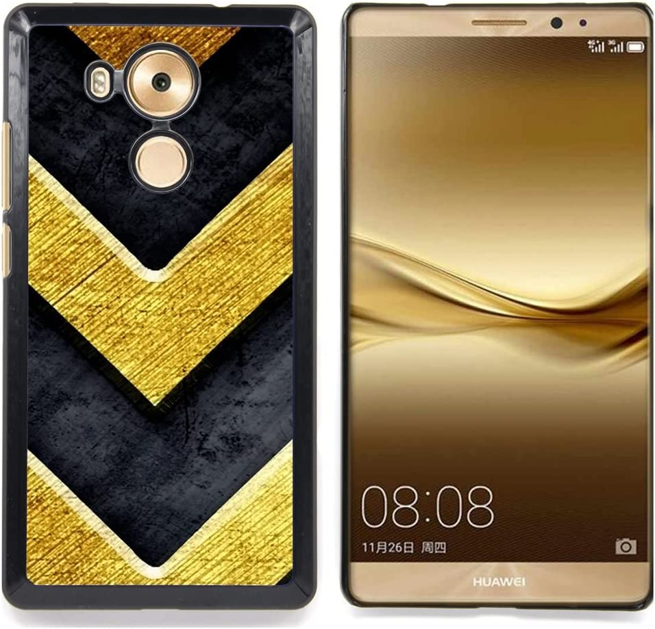 For Huawei Mate 8 - Chevron Gold Bling Brushed Metal Texture ...