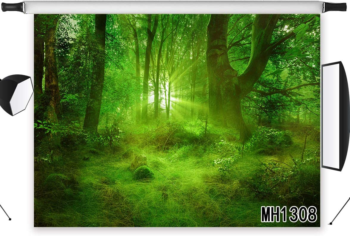 LB Enchanted Forest Backdrop Magical Fairy Rainforest Jungle Photo Backdrop Baby Shower Birthday Party Photography Background 7x5ft Photo Shoot Props MH1308