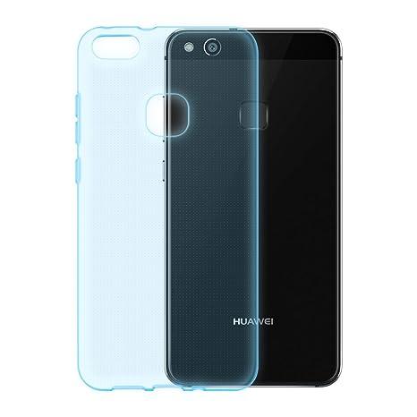 Cadorabo Funda para Huawei P10 Lite en Transparente AZÚL ...
