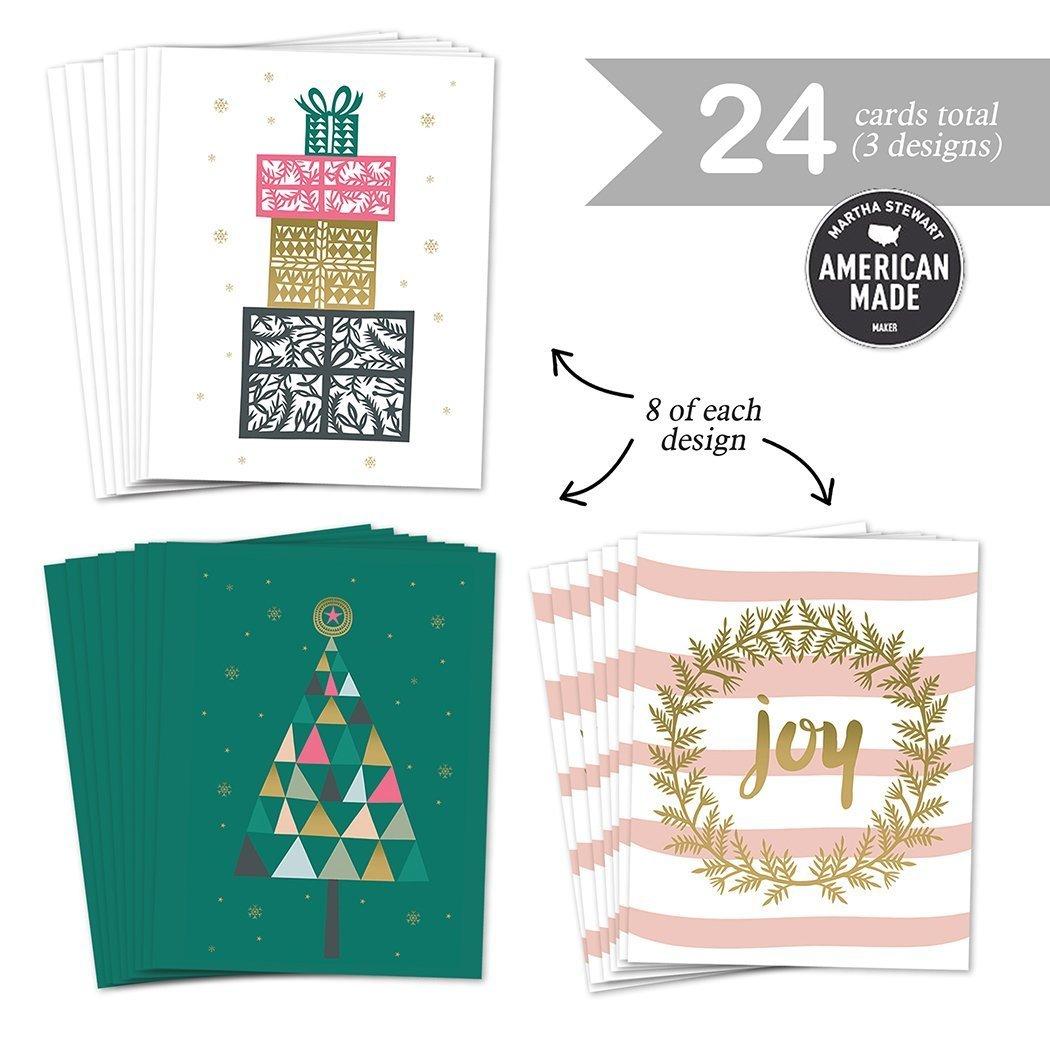 Amazon.com: Assortment 24 Holiday Greeting Cards, 3 Assorted Elegant ...