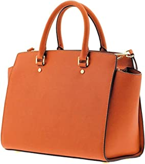 amazon com michael kors selma large leather satchel red os shoes rh amazon com