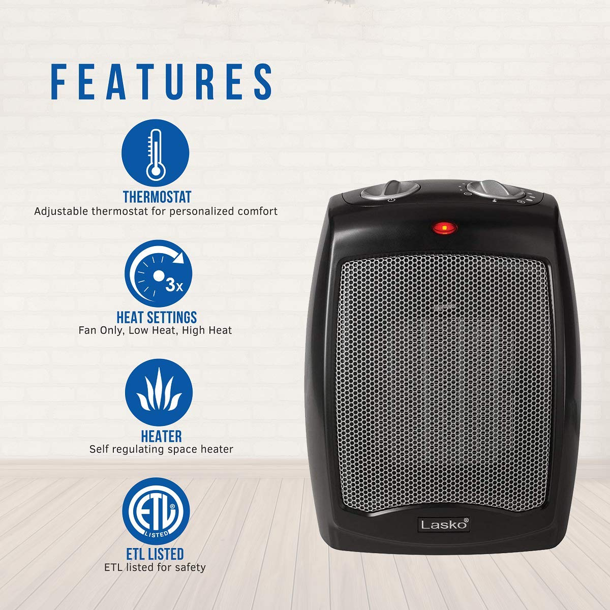 Lasko Ceramic Portable Space Heater