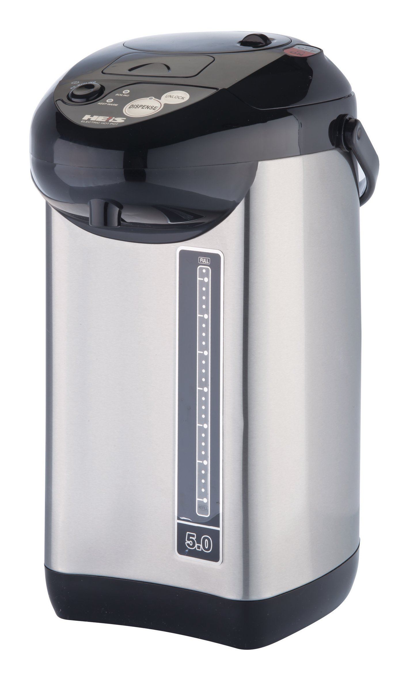 Pro Chef PC8100 5-Quart Hot Water urn, with Auto & Manuel Water Dispenser, Stainless Steel