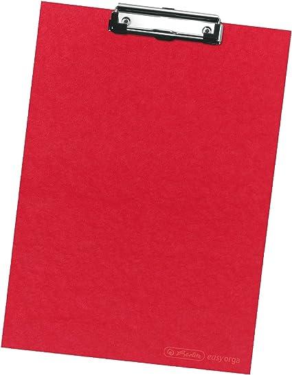 Klemmbrett A4 rot Schreibbrett mit Halterung Klemmmappe 23,5 x 32 cm Neu