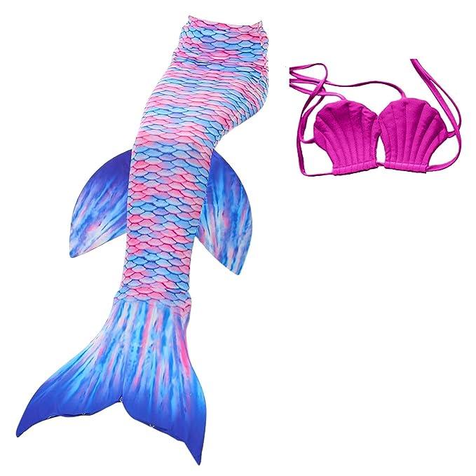 Amazon.com: DOTOFIN - Bañador de cola de sirena para niña ...