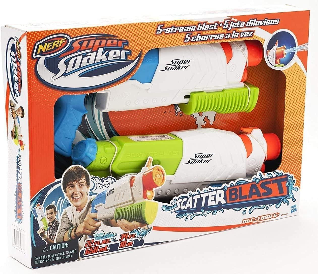 Nerf Super Soaker Scatter Blast 2-Pack: Amazon.es: Juguetes y juegos