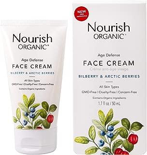 product image for Nourish Organic | Age Defense Face Cream - Bilberry & Arctic Berries | GMO-Free, Cruelty Free, Fragrance Free (1.7oz)