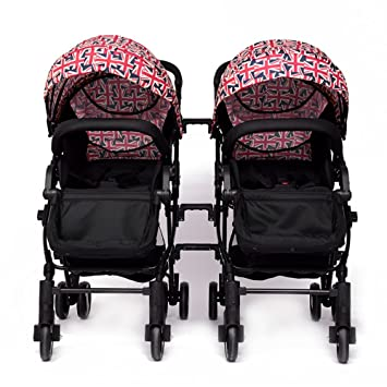 YIHANGG Twins Baby Pram 2 En 1 Cochecito De Bebé Carrito Luxury Reversible Toddler High View Cochecito De Bebé Recién Nacido,Multi-colored: Amazon.es: ...